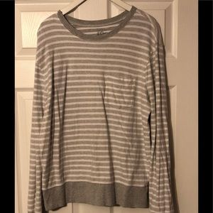 J Crew Striped Pull Over Tee